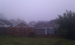 A view which normally shows Bradford, but is foggy, taken this morning on 8th of October 2010