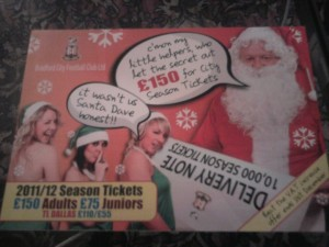Bradford City Christmas 2010 Offer